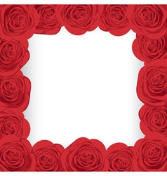 Red roses frame vector