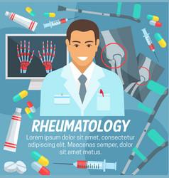 Rheumatology medicine rheumatologist doctor vector