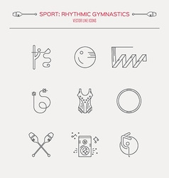 Rhythmic Gymnastics Icon Set vector image vector image