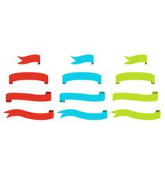 ribbon flags vector image
