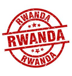 Rwanda red round grunge stamp vector