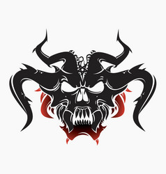 satan head tattoo vector image