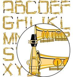 Saxophone font vector
