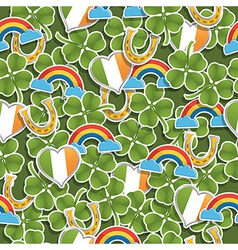 seamless irish pattern vector image