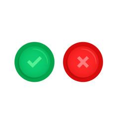 set correct or incorrect button vector image