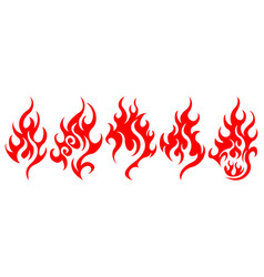 set of fire design elements vector image