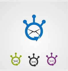 share email with circle concept logo icon vector image