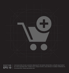 Shopping cart and plus sign vector
