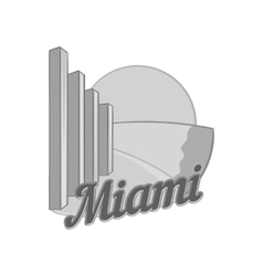 Sign Miami icon black monochrome style vector image