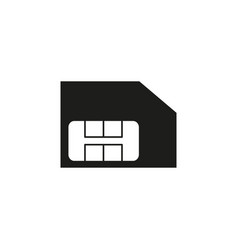 sim card icon black vector image