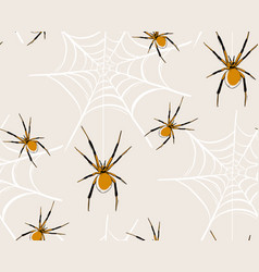 spider web seamless pattern bahaloween kids vector image