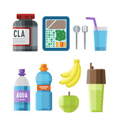 sport nutrition icon in flat style detailed vector image