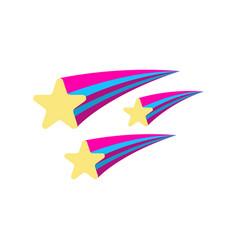 Star icon fantasy world of the unicorn cartoon vector