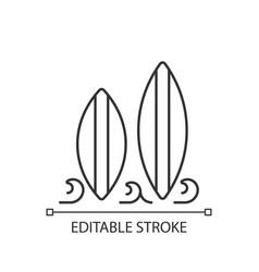 Surfboard linear icon vector