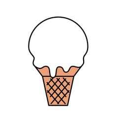 sweet ice cream cold flavor fresh tasty vector image