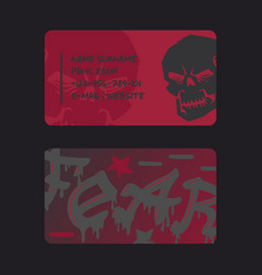 underground rock club business card design vector image