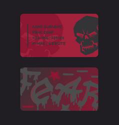 Underground rock club business card design vector