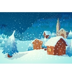 village in night vector image