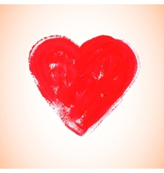 Watercolor red heart vector image