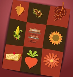 With thanksgiving and nature vector