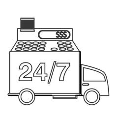 24 7 truck transport service vector image