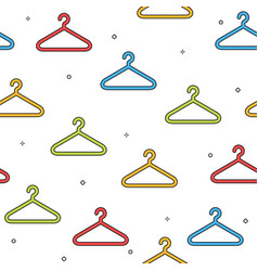 Colorful hanger seamless pattern on white vector