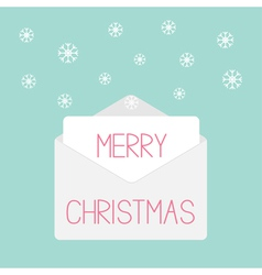 Grey envelope with snowflakes Love card vector image
