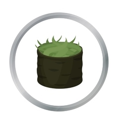 Gunkan maki icon in cartoon style isolated on vector image