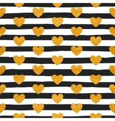Seamless pattern of gold hearts vector image