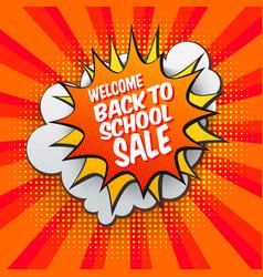 Back to school sale bubble vector
