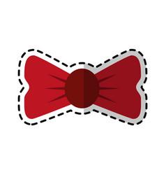bowtie accessory icon image vector image