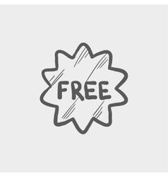 Free tag sketch icon vector image vector image