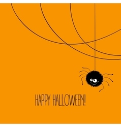 Funny Halloween greeting card monster eyes vector image vector image
