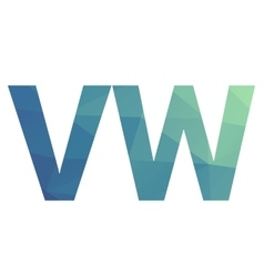 Polygonal gradient letters vector image