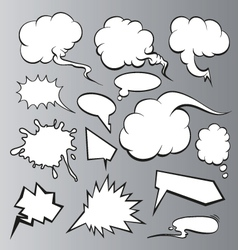 Speech bubbles backgrounds vector image