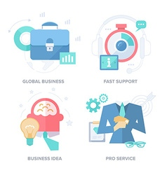 Strategies for Business Results Abstract Features vector image vector image