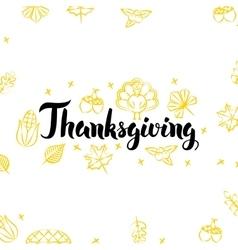 Thanksgiving Golden Greeting Postcard vector image