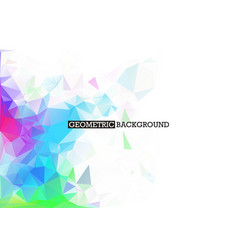 white abstract mosaic background with colourful vector image