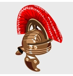Bronze helmet the item of knight armour vector image vector image