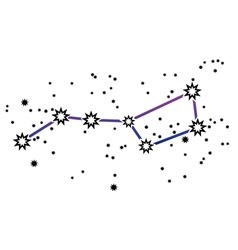 Constellation Ursa Major Big Dipper vector image