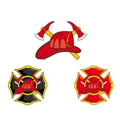 Firefighters symbols vector image vector image