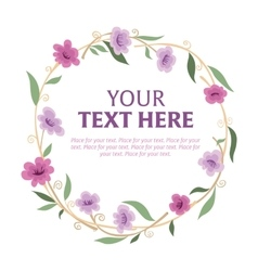 Floral wreath with space for text vector image