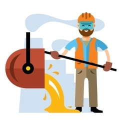 Metallurgical industry Flat style colorful vector image