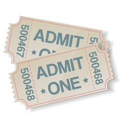 retro cinema ticket vector image vector image