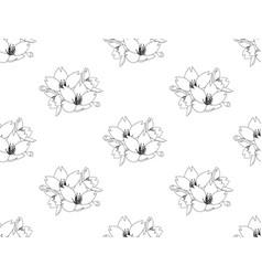 sakura cherry blossom flower seamless on white vector image vector image