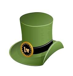 Green hat in saint Patricks Day vector image vector image