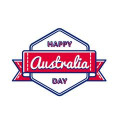 Happy australia day greeting event emblem vector