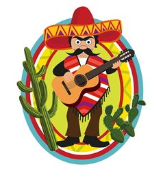 mexican style vector image vector image