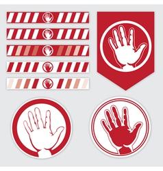 palm caution vector image