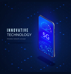 5g network innovation technology banner wireless vector image